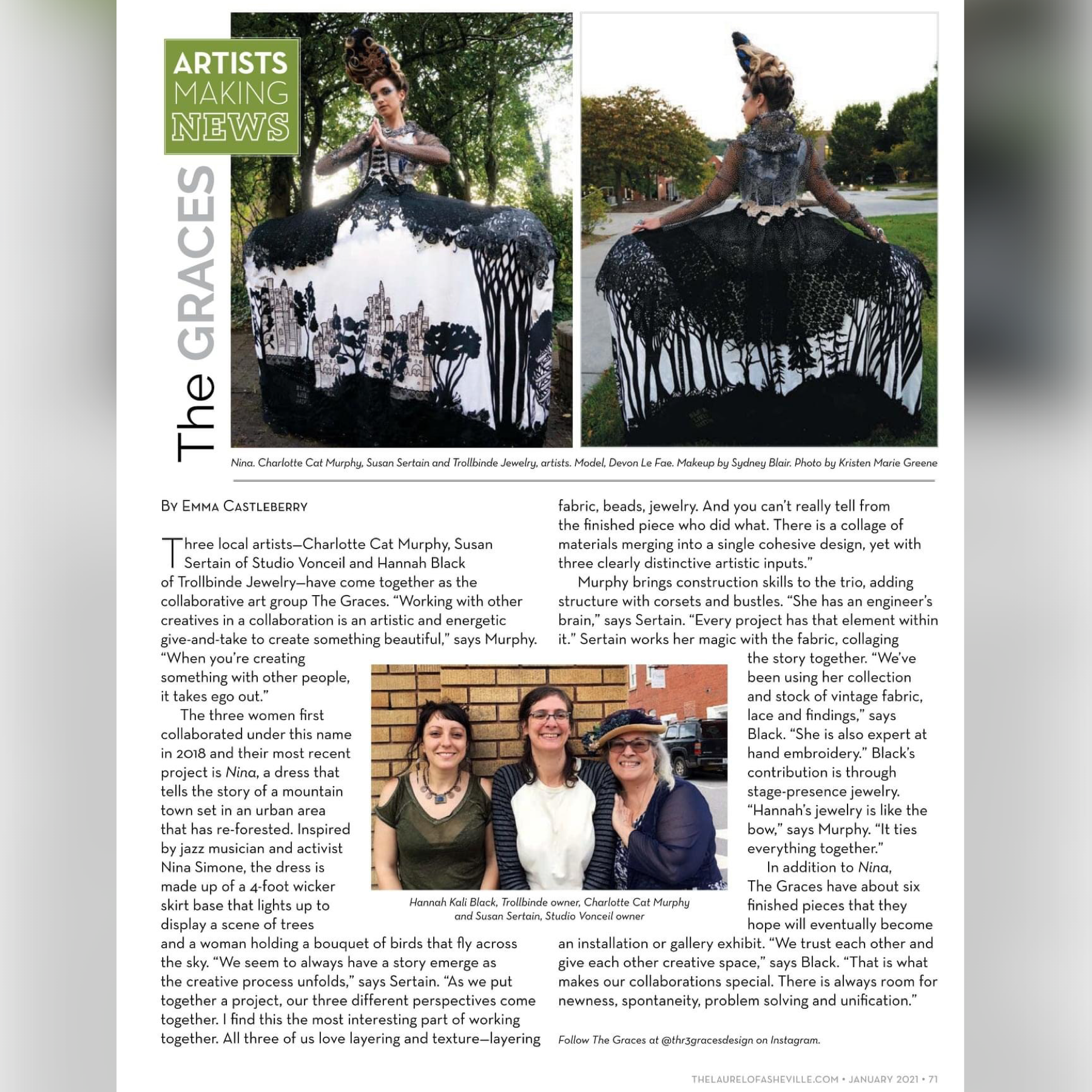 The Graces Featured In Laurel of Asheville